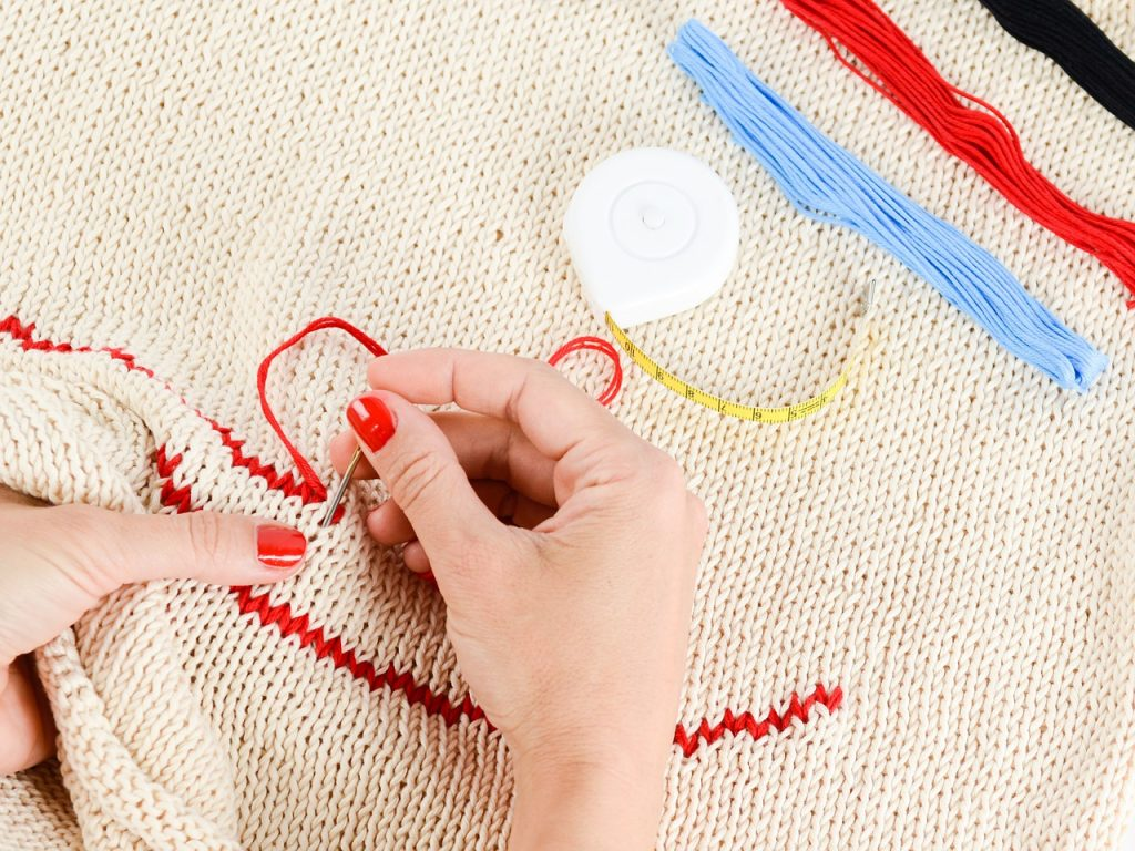 How to embroider by hand