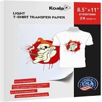 Koala Paper 28 Sheets Light Fabric Iron-on Heat Transfer Paper